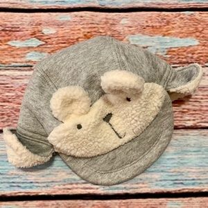 Baby Gap Sherpa Shearling Gray Hat